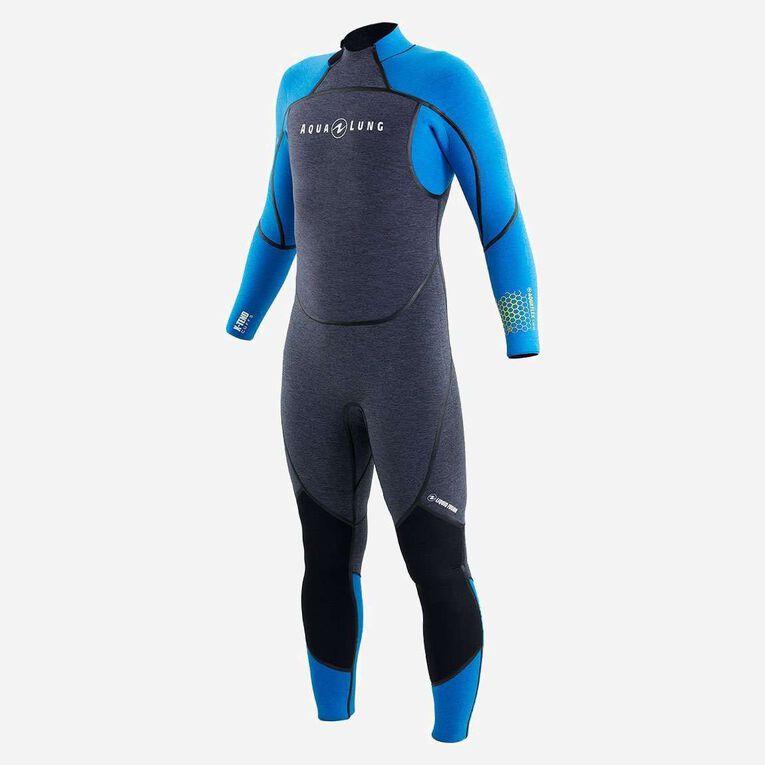 AquaFlex 5mm Wetsuit - Men, Grey/Blue, hi-res image number 2