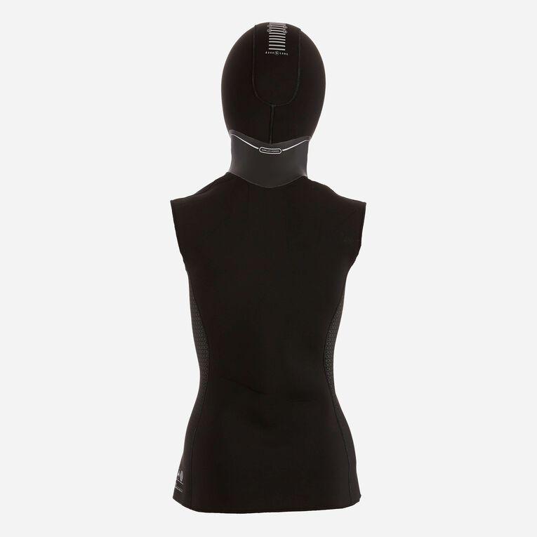 AquaFlex 2mm Hooded Vest - Women, Black, hi-res image number 2