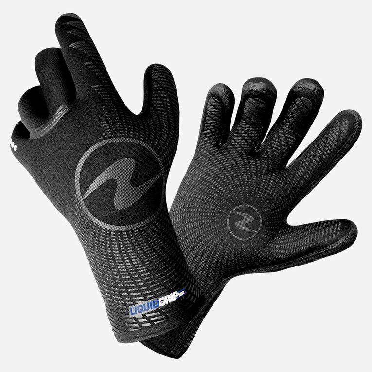 5mm Liquid Grip Gloves, Black/Blue, hi-res image number 0