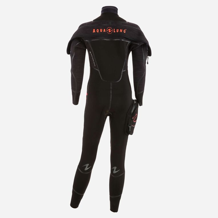 Iceland 7mm Semi Dry Wetsuit Women, Black/Coral, hi-res image number 2