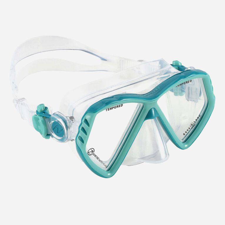 Cub Snorkeling mask Junior, Turquoise/Dark green, hi-res image number 0