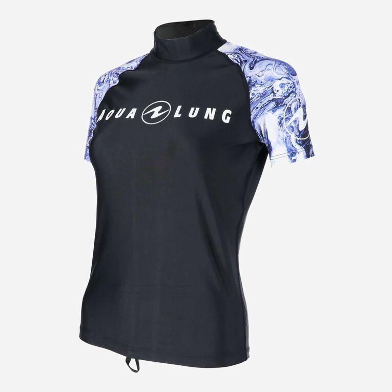 Aqua Rashguard Short Sleeve - Women, Purple/White, hi-res image number 2
