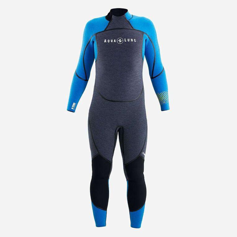 AquaFlex 5mm Wetsuit - Men, Grey/Blue, hi-res image number 1