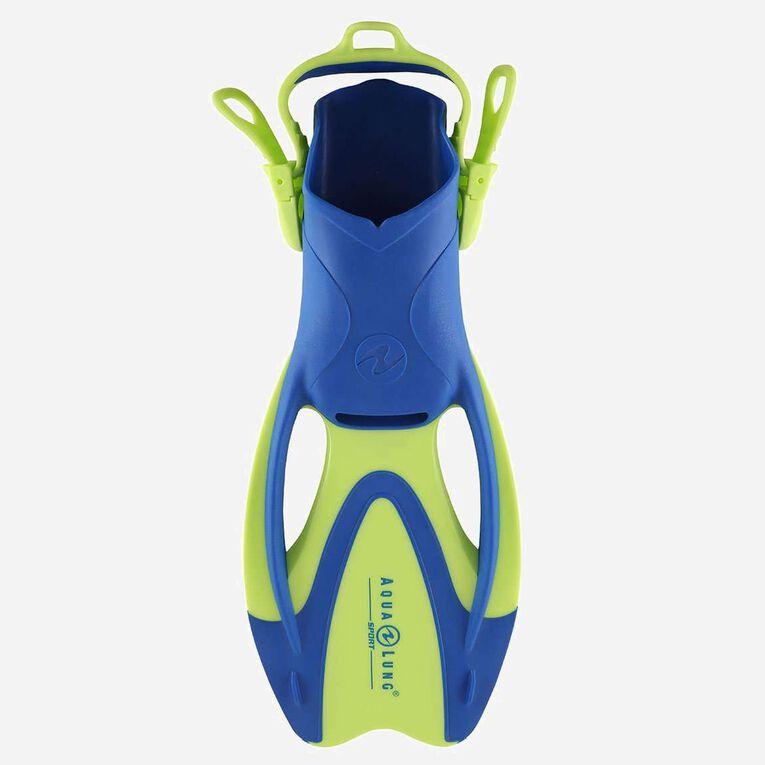 Zinger Snorkeling Fins Junior, Bright green/Light blue, hi-res image number 0