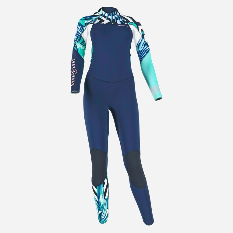 Xscape 4/3mm Wetsuit - Women, Navy blue/Multicolor, hi-res image number 0