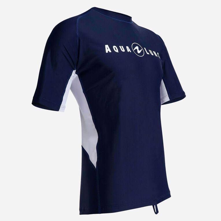 Rashguard Short Sleeve loose fit - Men, Navy blue/White, hi-res image number 1