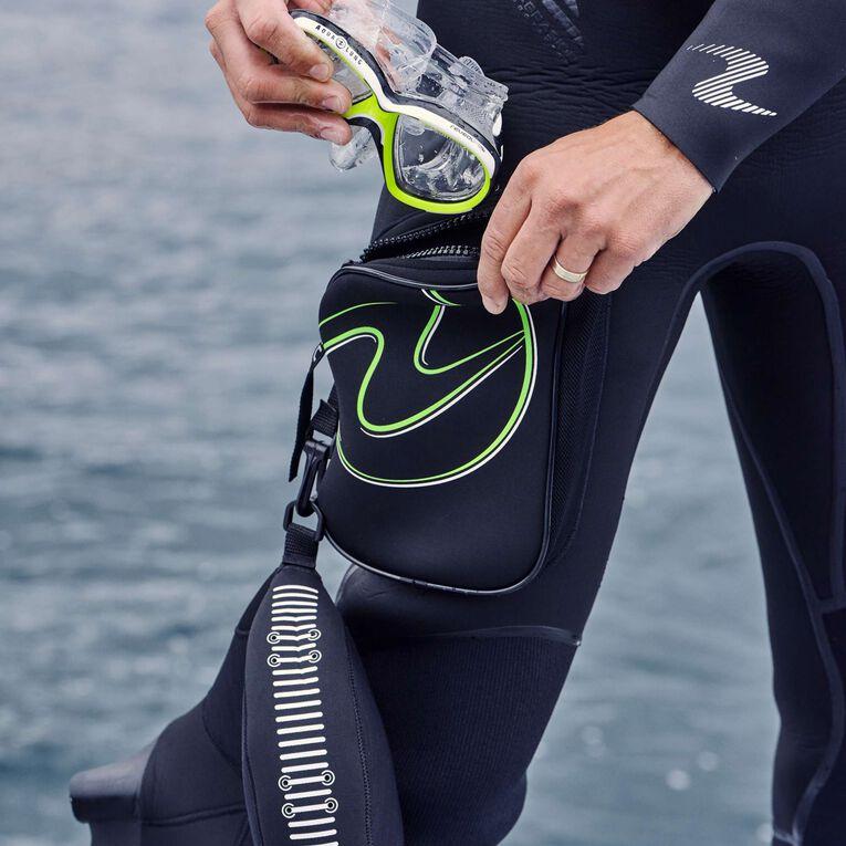 Iceland 7mm Semi-Dry Wetsuit Men, Black/Hot lime, hi-res image number 5