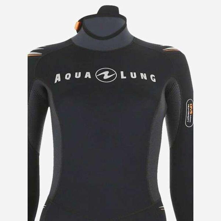 Dive 7mm Wetsuit Women, Black/Orange, hi-res image number 3