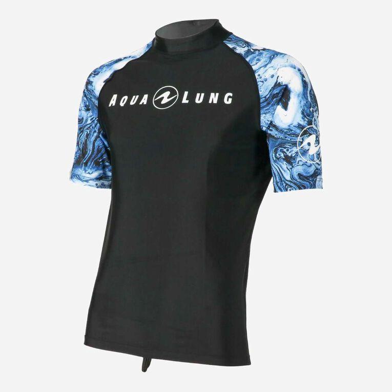 Aqua Rashguard Short Sleeve - Men, Navy blue/White, hi-res image number 2