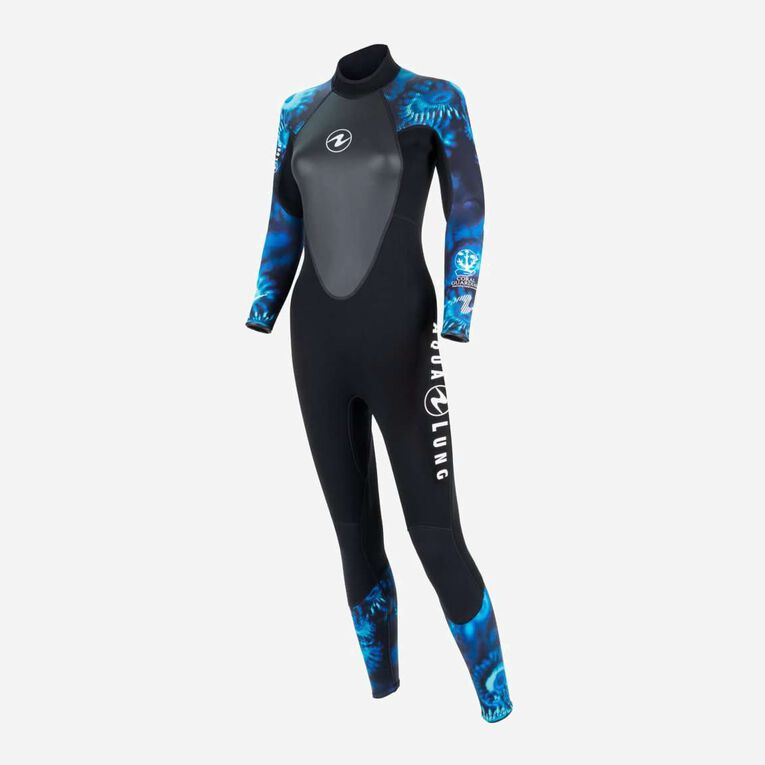 HydroFlex 1mm Coral Guardian Wetsuit Women, Black/Blue, hi-res image number 2