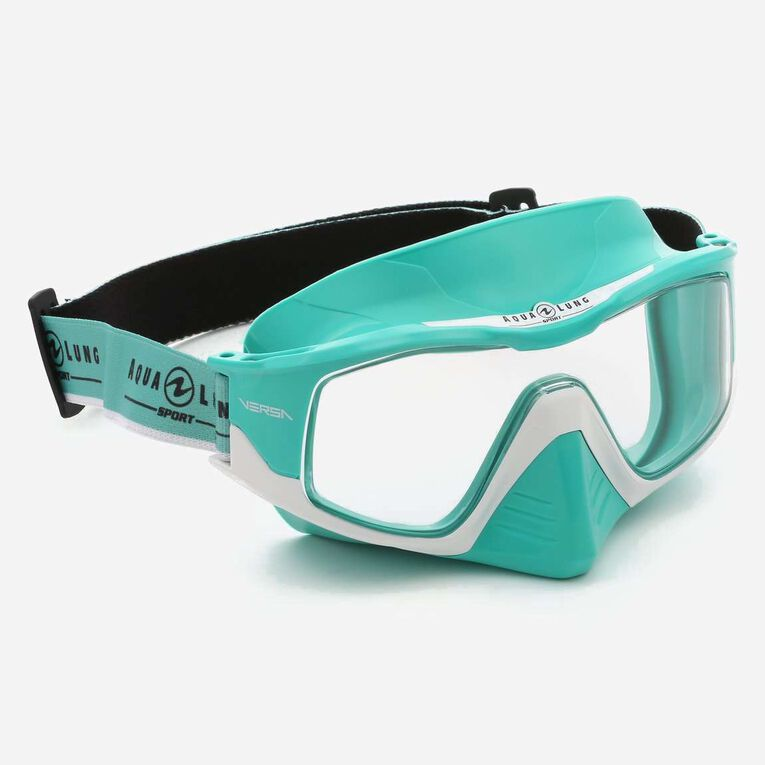 Versa Snorkeling mask, Turquoise/White/Lenses clear, hi-res image number 0