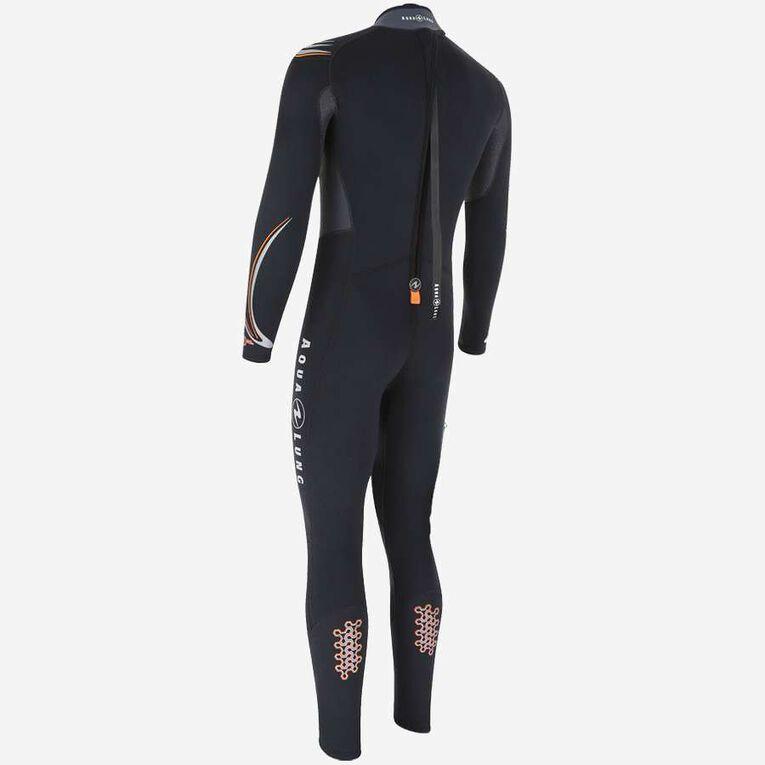 Dive 3mm Wetsuit, Black/Orange, hi-res image number 1