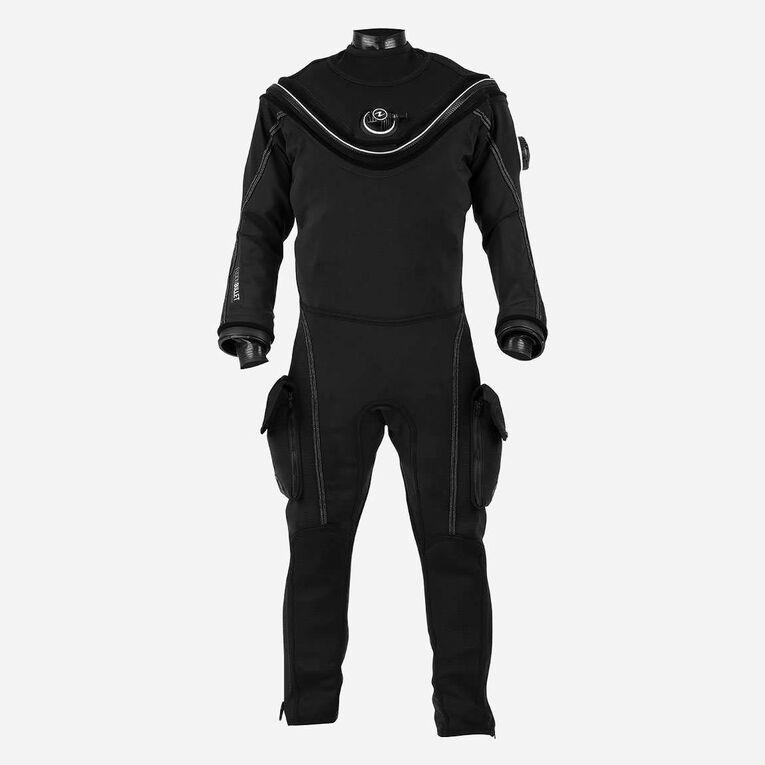 Fusion Bullet Drysuit, Black/White, hi-res image number 0
