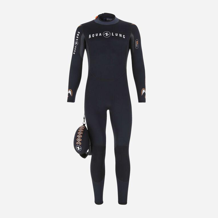 Dive 7mm Wetsuit, Black/Orange, hi-res image number 0