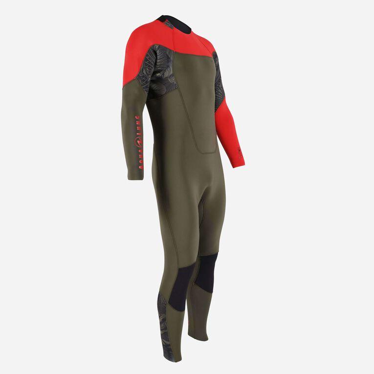 Xscape 4/3mm Wetsuit - Men, Dark green/Red, hi-res image number 1
