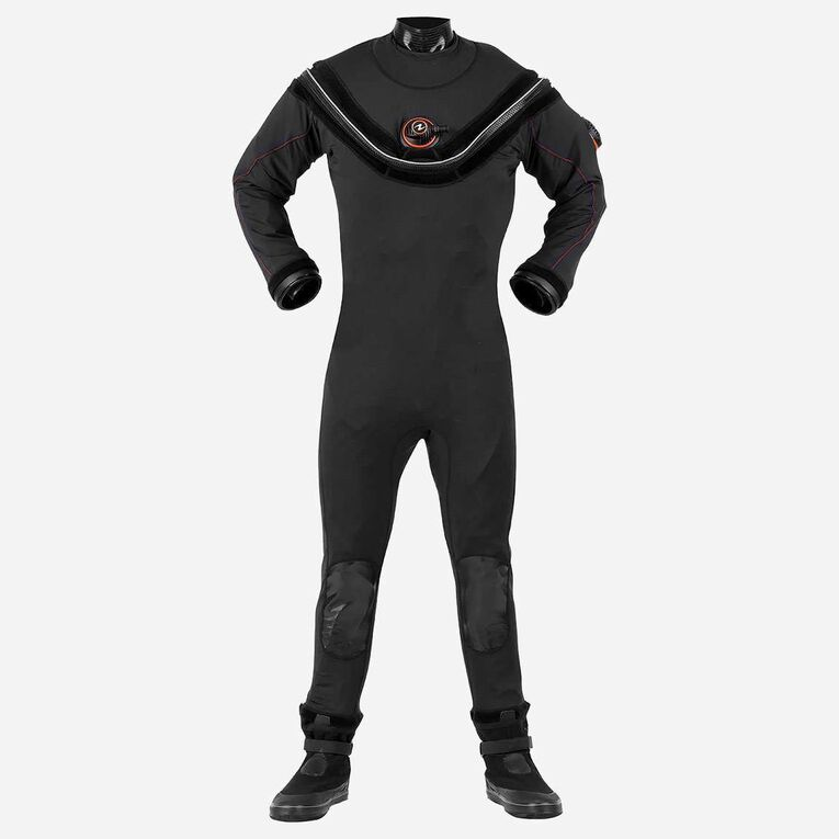 Fusion Sport Drysuit, Black/Orange, hi-res image number 0