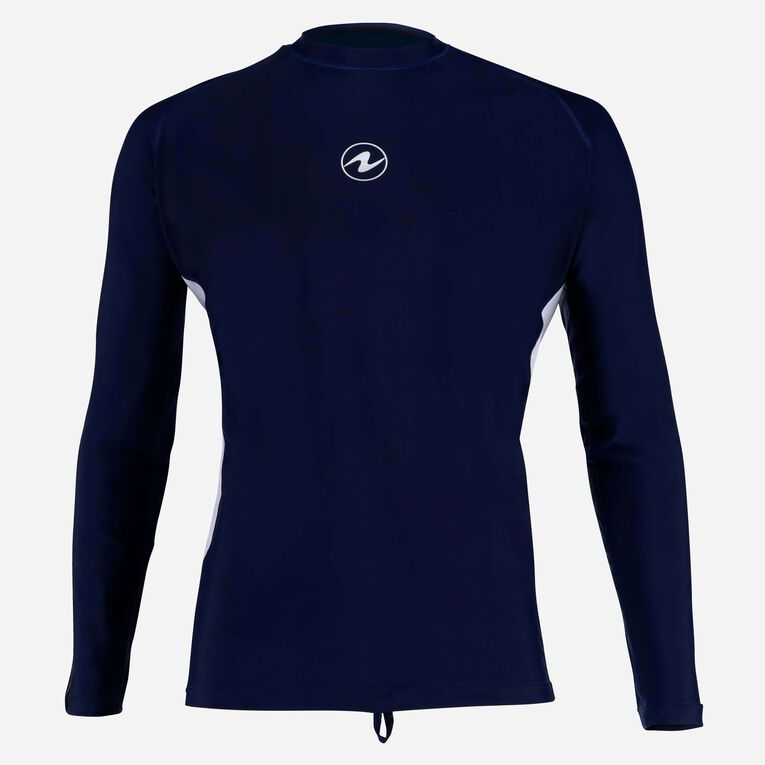 Rashguard Loose fit Long sleeves - Men, Navy blue/White, hi-res image number 0