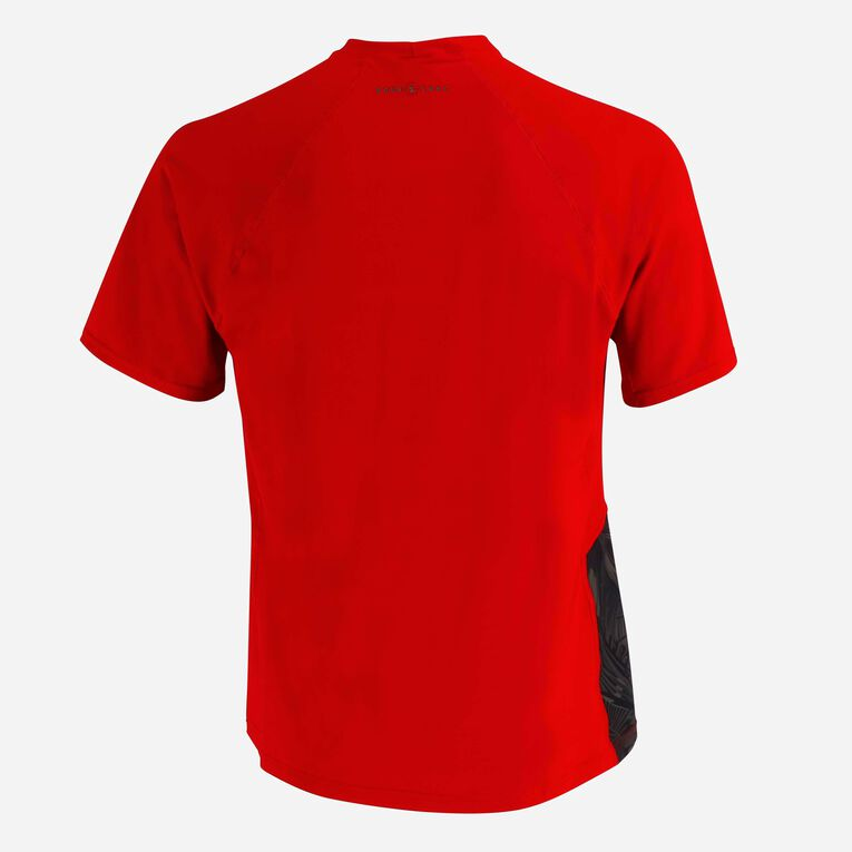 Xscape Rashguard short sleeves - Men, Red/Dark green, hi-res image number 3