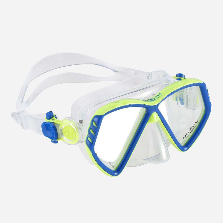 Cub Snorkeling mask Kids, Light blue/Bright green, hi-res image number 0