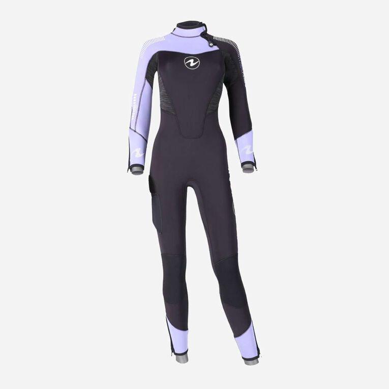 DynaFlex 7mm Wetsuit Women, Black/Purple, hi-res image number 0