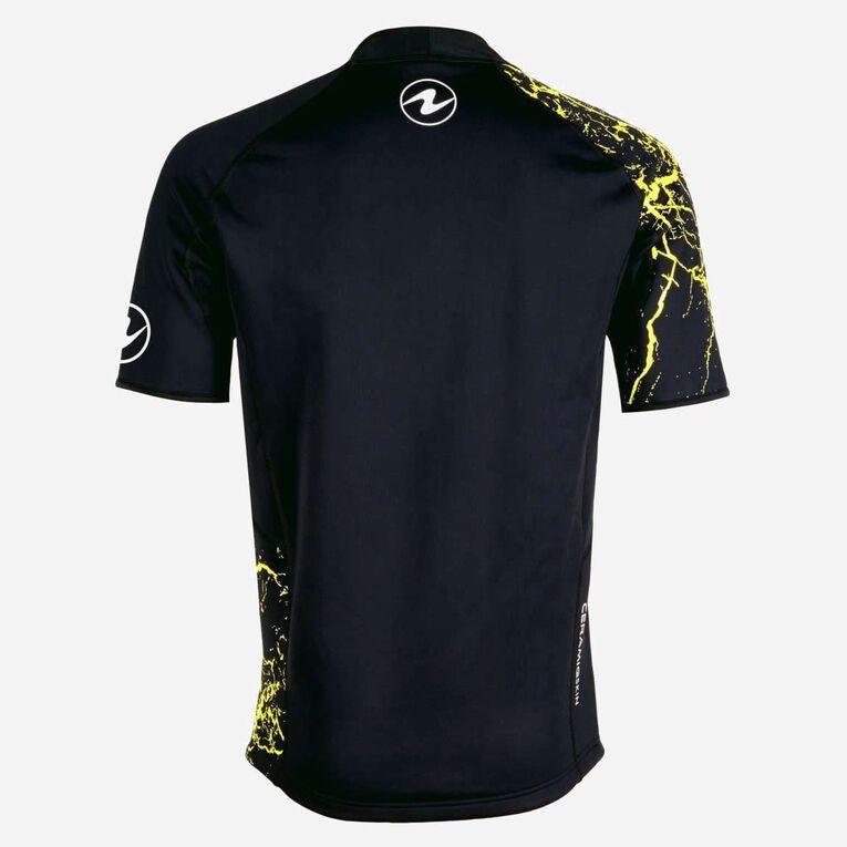 CeramiQskin short sleeves Top - Men, Black/Hot lime, hi-res image number 1