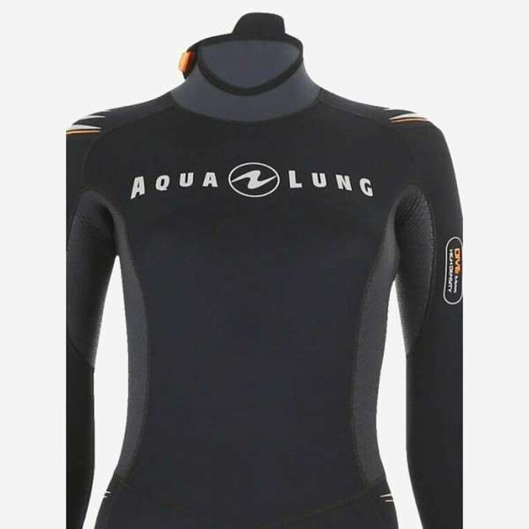 Dive 5,5mm Wetsuit, Black/Orange, hi-res image number 3