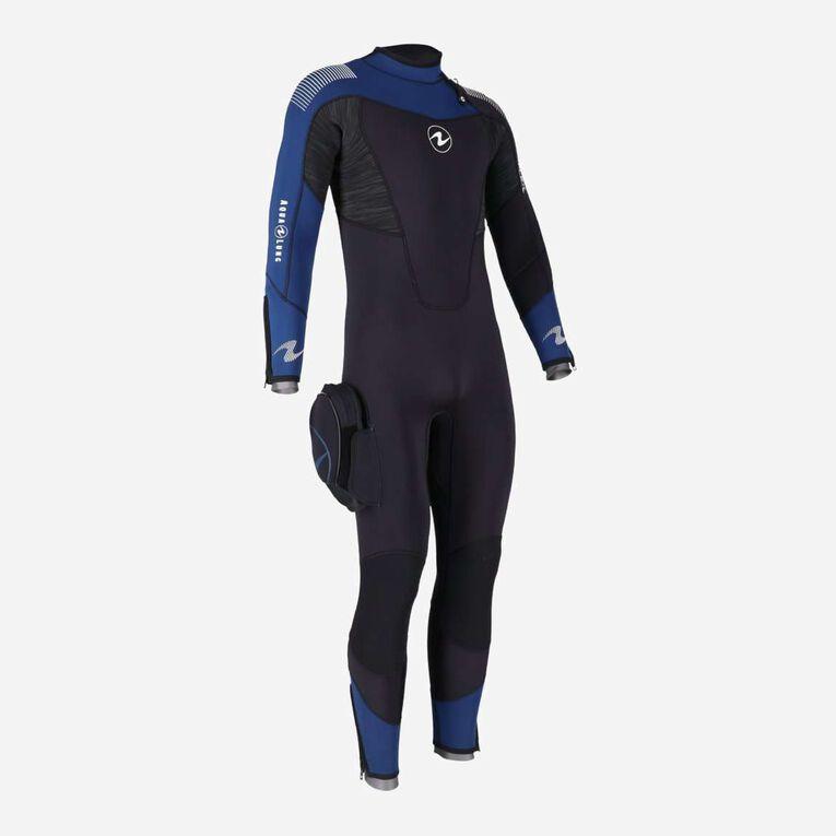 DynaFlex 5.5mm Wetsuit Men, Black/Navy blue, hi-res image number 3