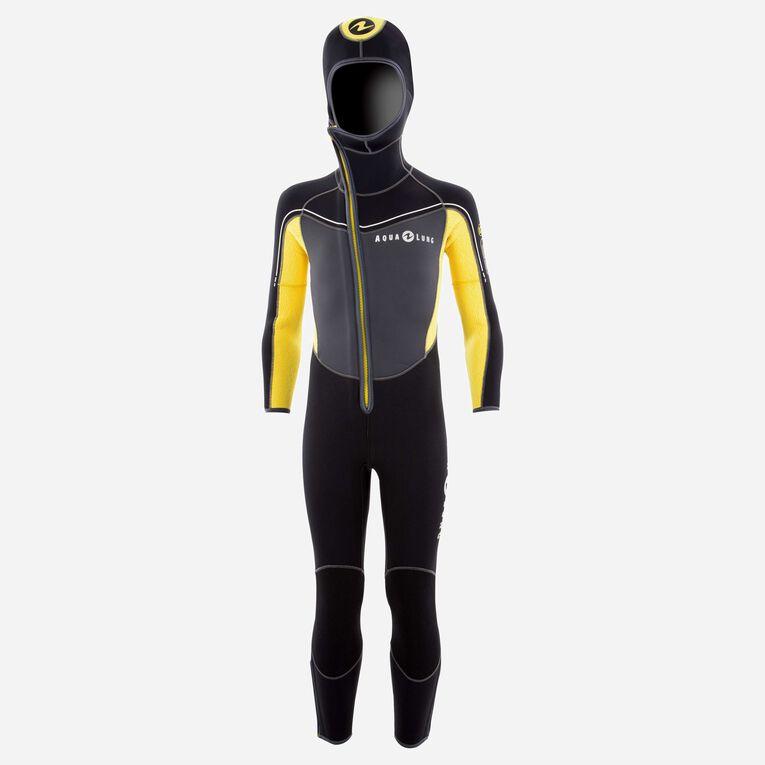 Boomerang 5mm Wetsuit - Junior, Grey/Yellow, hi-res image number 0