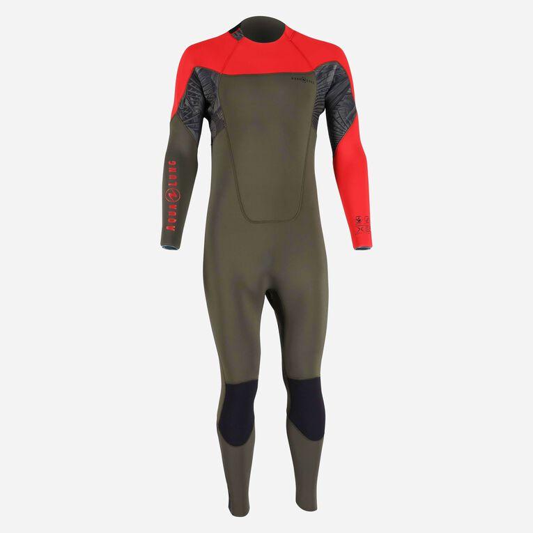 Xscape 4/3mm Wetsuit - Men, Dark green/Red, hi-res image number 0